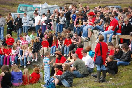 Literally busloads of people came to enjoy Da Big Bannock in North Roe, Shetland